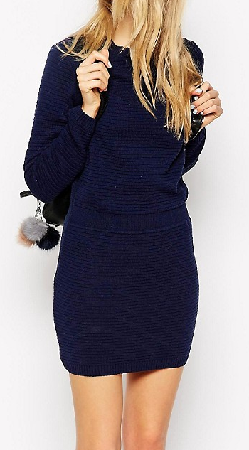 ASOS Sweater Dress With Elasticated Waistband