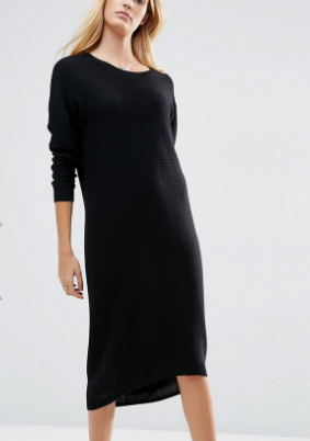 ASOS Knit Midi Dress in Recycled Yarn