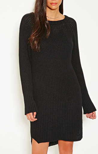 MLM Ribbed Knit Sweater Dress