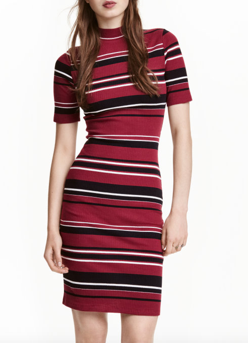 HM Ribbed Jersey Dress