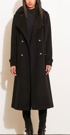 Lauren Ralph Lauren Wool Blend Maxi Coat