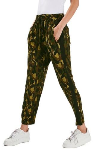 Topshop Camo Crop Jogger Pants