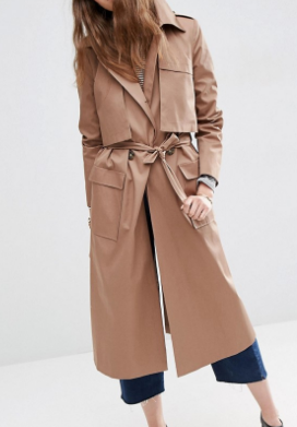 ASOS Maxi Trench with Oversized Storm Flap