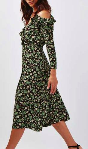 Topshop Garden Floral Print Midi Dress