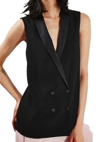 Sleeveless Double Breasted Slouch Jacket TOPSHOP