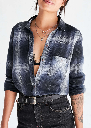 BDG Polly Flannel Button-Down Shirt