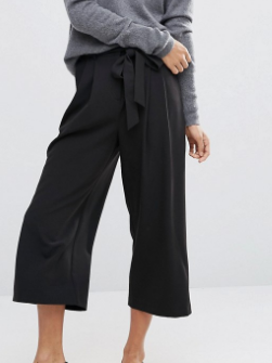 ASOS Tailored Culotte with Tie Waist