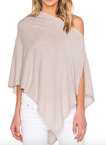 CROPPED PONCHO AUTUMN CASHMERE