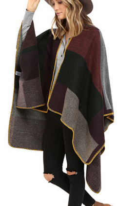 ONLY Jamy Weaved Block Poncho