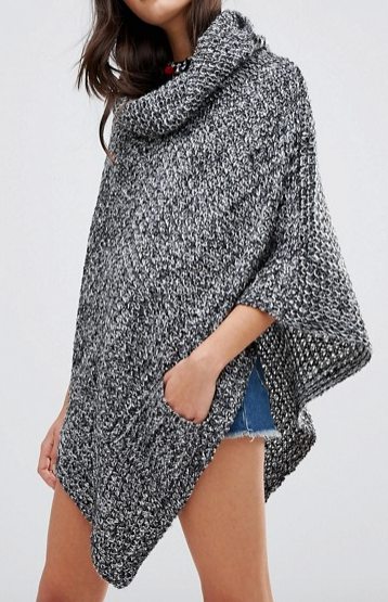Raga Off The Trails Poncho Sweater