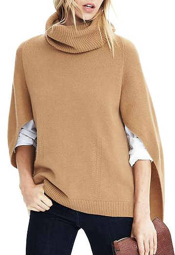 Banana Republic Cashmere Turtleneck Poncho