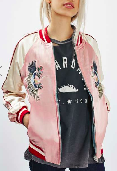 Topshop Two-in-One Reversible Bomber Jacket