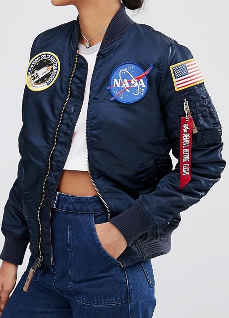 Alpha Industries MA-1 NASA Bomber Jacket with Patches