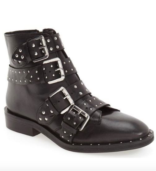 'Amy' Studded Buckle Bootie TOPSHOP