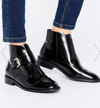 Office Anthem Buckle Strap Leather Ankle Boots