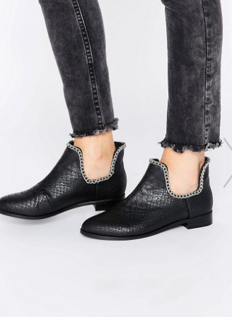ASOS AJAY Chain Ankle Boots