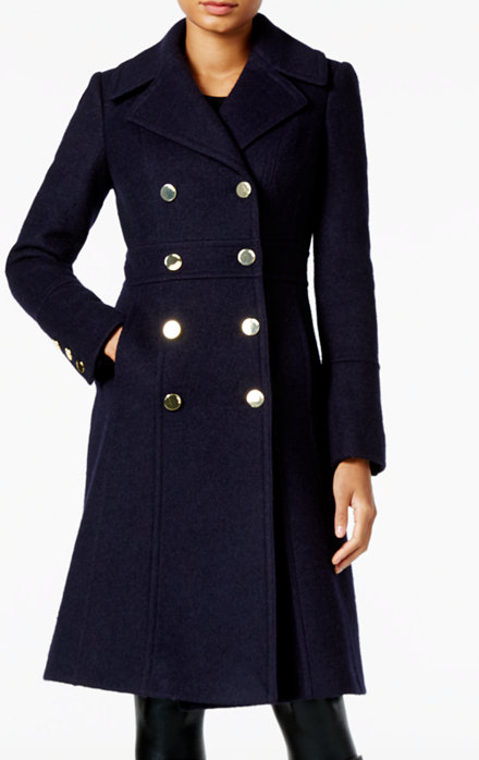 Fit & Flare Military Coat GUESS
