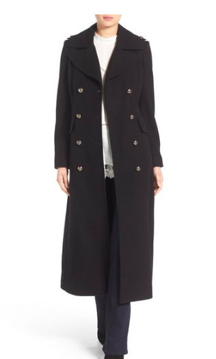 Long Wool Blend Military Coat BCBGENERATION