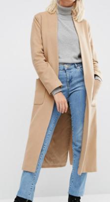Helene Berman Drapey Longline Jacket In Camel