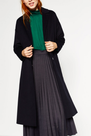 Zara long wool coat