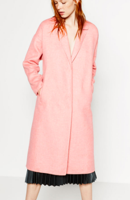 Zara long pink coat