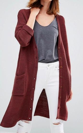 Vero Moda Long Line Side Split Cardigan