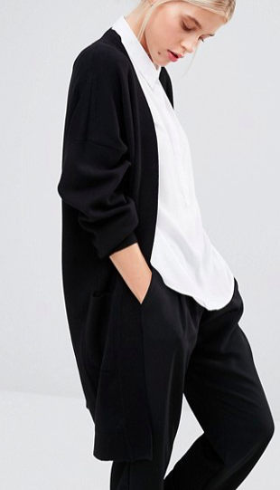 Monki Oversized Pocket Detail Cardigan