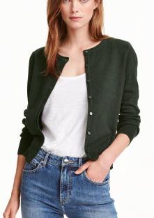HM Fine-knit Cotton Cardigan