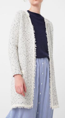 Mango Flecked cotton-blend cardigan