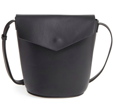 Street Level Faux Leather Envelope Bucket Bag