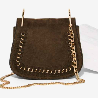 Jory Vegan Suede Crossbody Bag