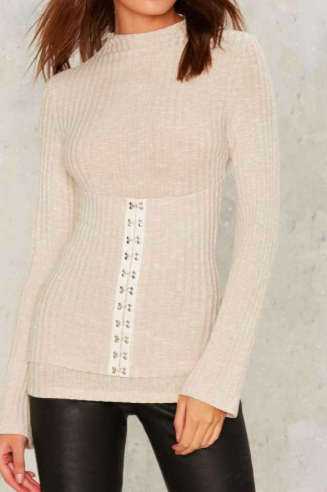 Lavish Alice Hook So Perfect Ribbed Top