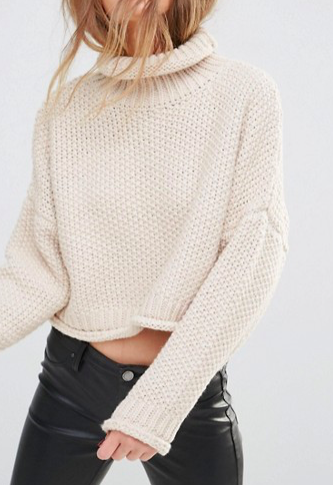 Moon River Knitted Crop Sweater