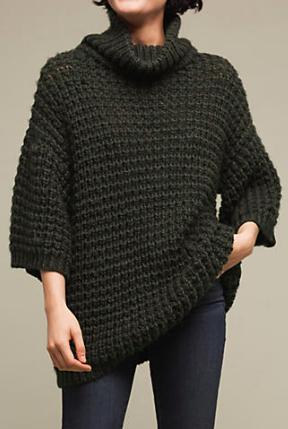 Waffled Turtleneck Tunic