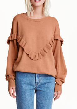 HM Oversized Sweater with Ruffles