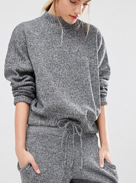 Stitch & Pieces Tie Waist Knit Sweater