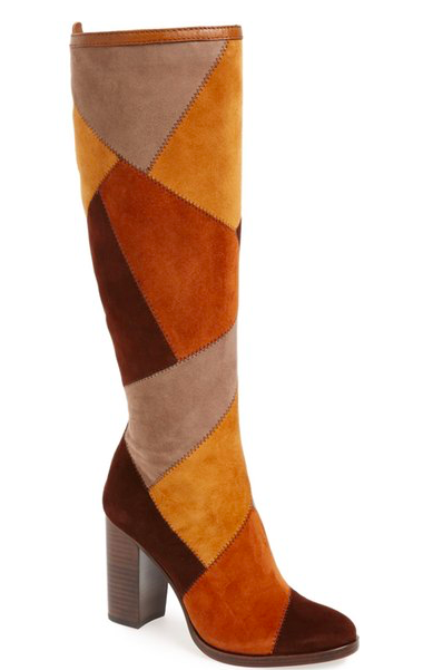 Frye 'Claude' Knee High Patchwork Boot