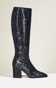 Zara STUDIO PRINT HIGH HEEL LEATHER BOOTS