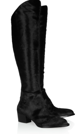 ALEXANDER WANG Sigrid calf hair knee boots