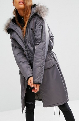 ASOS Premium Padded Parka with Fur Lined Hood