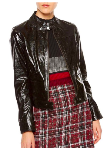 Patent Leather Moto Jacket  SANCTUARY