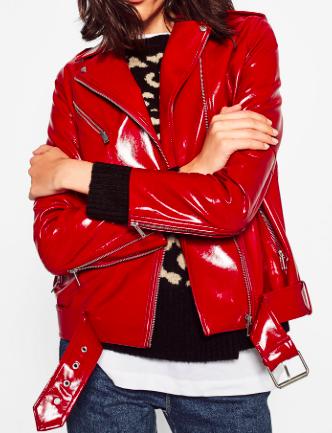Zara patent biker jacket