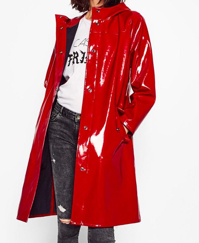 Zara patent raincoat