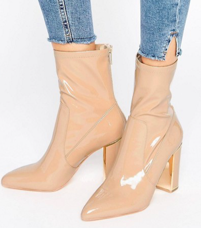 River Island Studio Patent Leather Ankle Boot