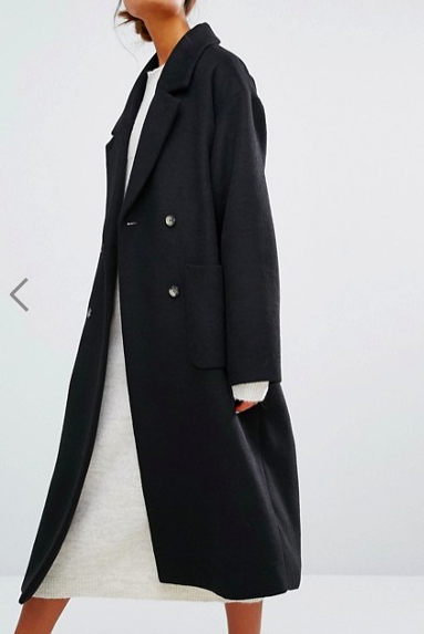 Monki Double Breasted Over Coat