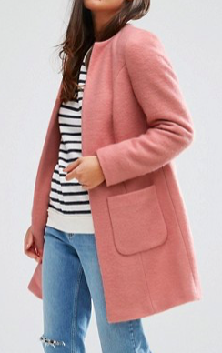 ASOS PETITE Pretty Coat in Wool Mix