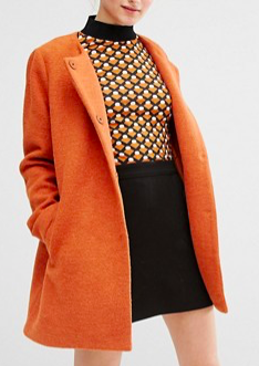 Monki Clean Car Coat