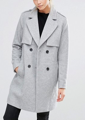 Vila Double Breasted Coat