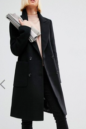 ASOS Wool Blend Coat in Classic Fit