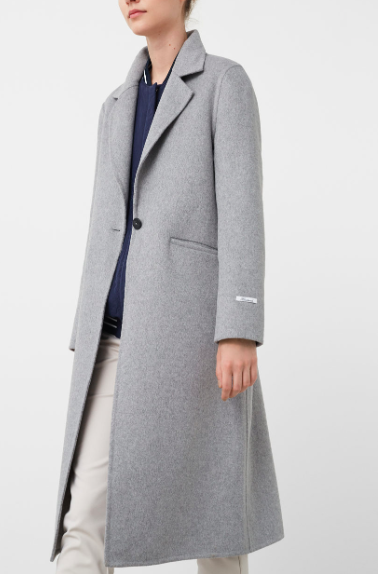 MANGO LONG WOOL COAT